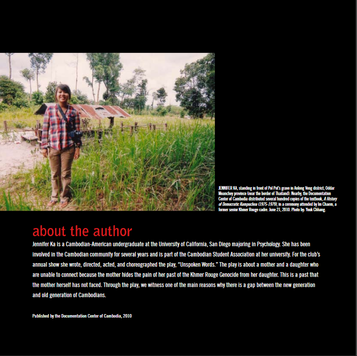 UNSPOKEN WORDS: A LEGACY OF THE KHMER ROUGE GENOCIDE (2010)