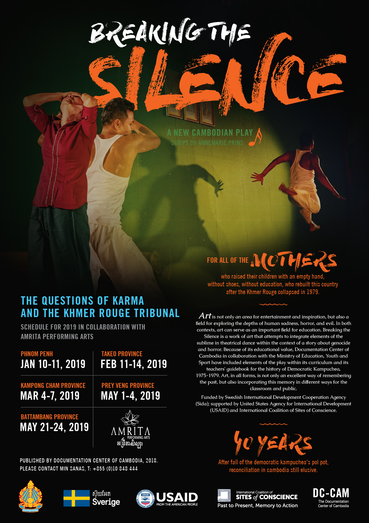 PERFORMANCE: BREAKING THE SILENCE (11 January until 24 May 2019)